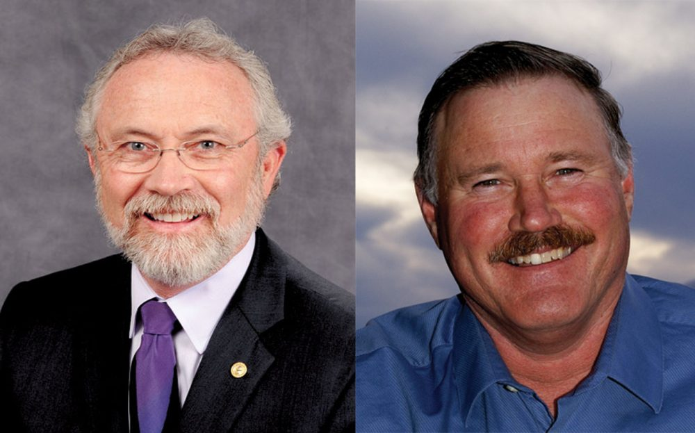 Dan Newhouse (L) and Clint Didier will face each other in Washington's fourth district, even though both are Republicans. (Weldon Wilson / Office of the Governor of Washington State; Clint Didier campaign)