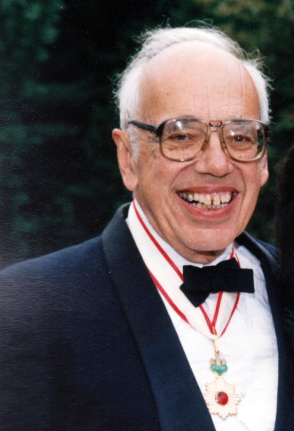 Francis Tenny wears his Order of the Rising Sun medal in 1993. (Courtesy of Laura Tenny)