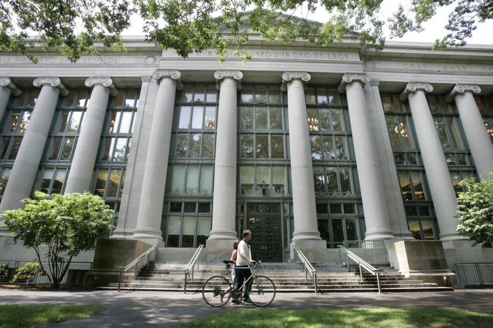 Langdell Hall, the Harvard Law Library, in Cambridge, Mass. (Charles Krupa/AP)