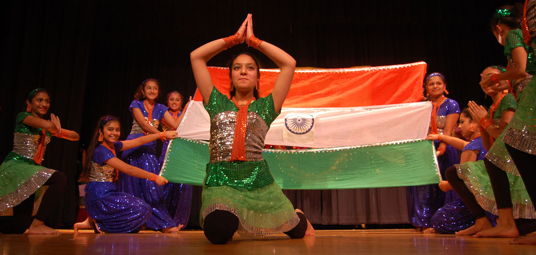 India Wale dances at the United India Association of New England's 2014 Diwali celebration. (Greg Cook)