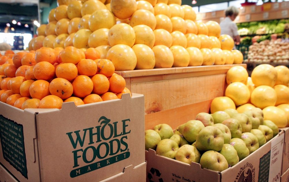 Fresh fruit is displayed at a Whole Foods store on May 4, 2006 in Chicago, Illinois.  (Photo by Scott Olson/Getty Images)