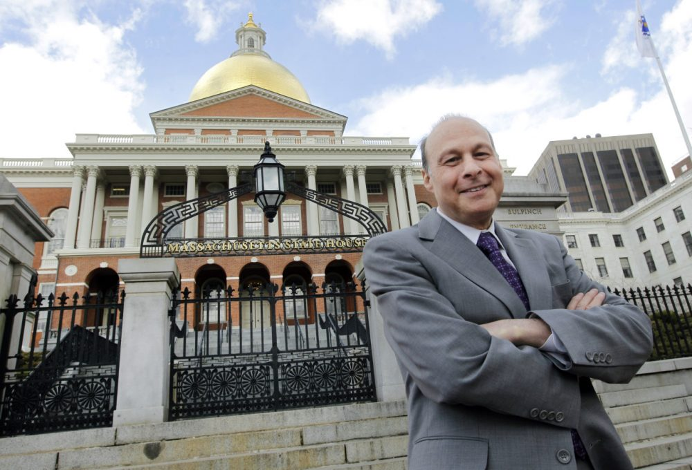 Sen. Stan Rosenberg, now Senate president, poses outside the State House in 2012. (Elise Amendola/AP)
