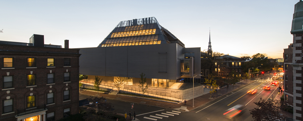 An exterior shot of the new Harvard Art Museums facility. (Courtesy Harvard Art Museums)