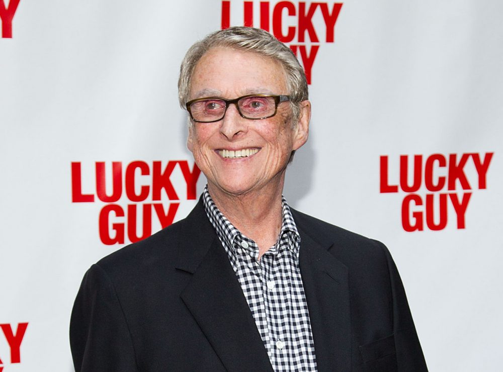 """This April 1, 2013 file photo shows director Mike Nichols at the """"Lucky Guy"""" opening night in New York.  (Dario Cantatore/Invision/AP)"""
