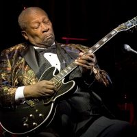 Blues Legend B.B. King performs his 10,000th concert at B.B. KIng Blues Club & Grill in Times Square on April 18, 2006 in New York City.   (Astrid Stawiarz/AFP/Getty Images)