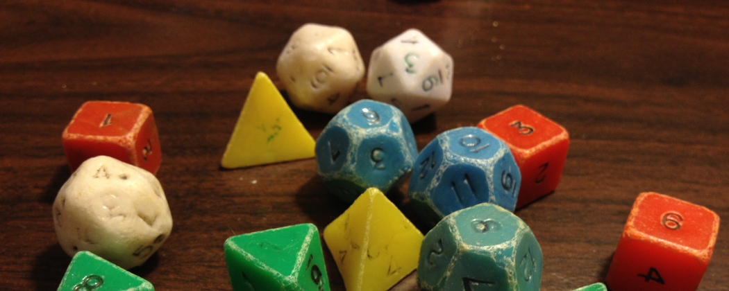 Classic 1970s Dungeons & Dragons dice (Ethan Gilsdorf)