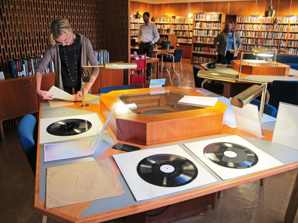 Harvard's Woodberry Poetry Room is home to thousands of archived recordings from some of the most important English language-poets of the age -- T.S. Eliot, Sylvia Plath, Robert Frost. (Julie Martin/NEDCC)