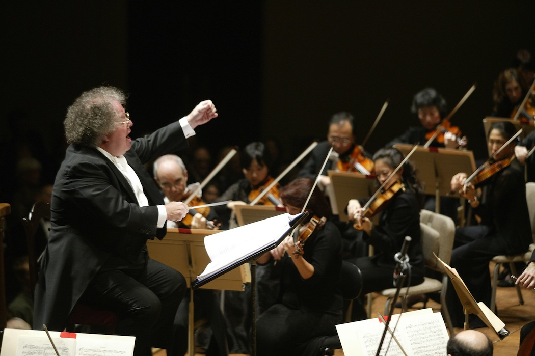 James Levine conducts the BSO in Mahler's Eighth Symphony. (Michael Lutch/AP)