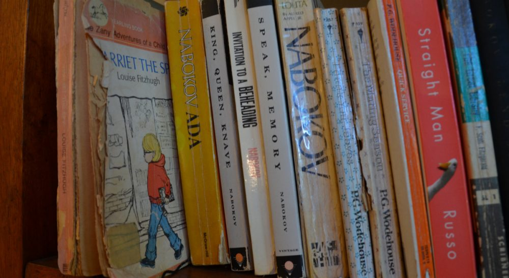 A sliver of the author's personal Western canon, with 'Harriet the Spy' in the No. 1 spot. (Sharon Brody/WBUR)