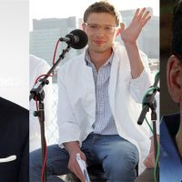 Journalists Fareed Zakaria (left), Jonah Lehrer (center) and Stephen Glass (right). (Getty Images)