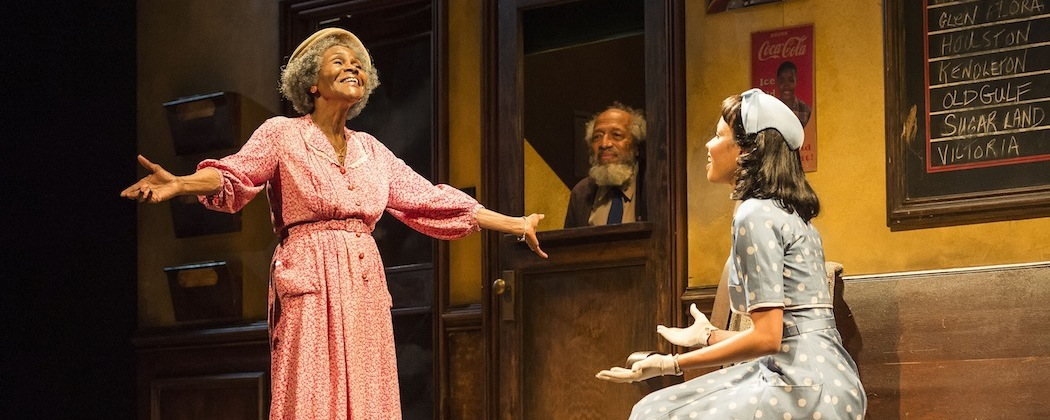 """Cicely Tyson, Arthur French and Jurnee Smollett-Bell in the revival of Horton Foote's """"The Trip to Bountiful"""" at the Cutler Majestic Theatre . (Craig Swartz)"""