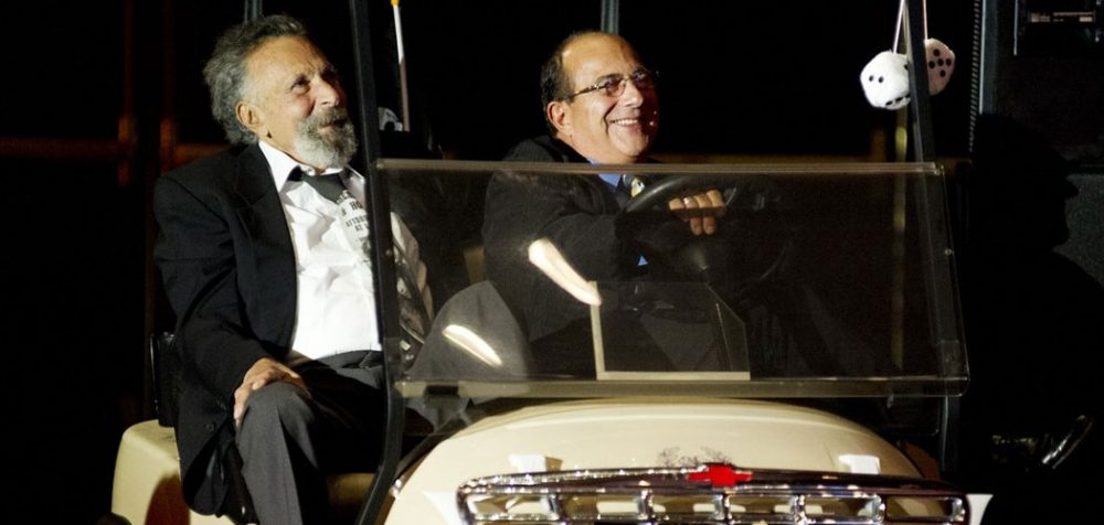 """Tom, left, and Ray Magliozzi at the 2012 WBUR Gala, where """"Car Talk"""" was honored. (Mary Flatley for Liz Linder Photography)"""