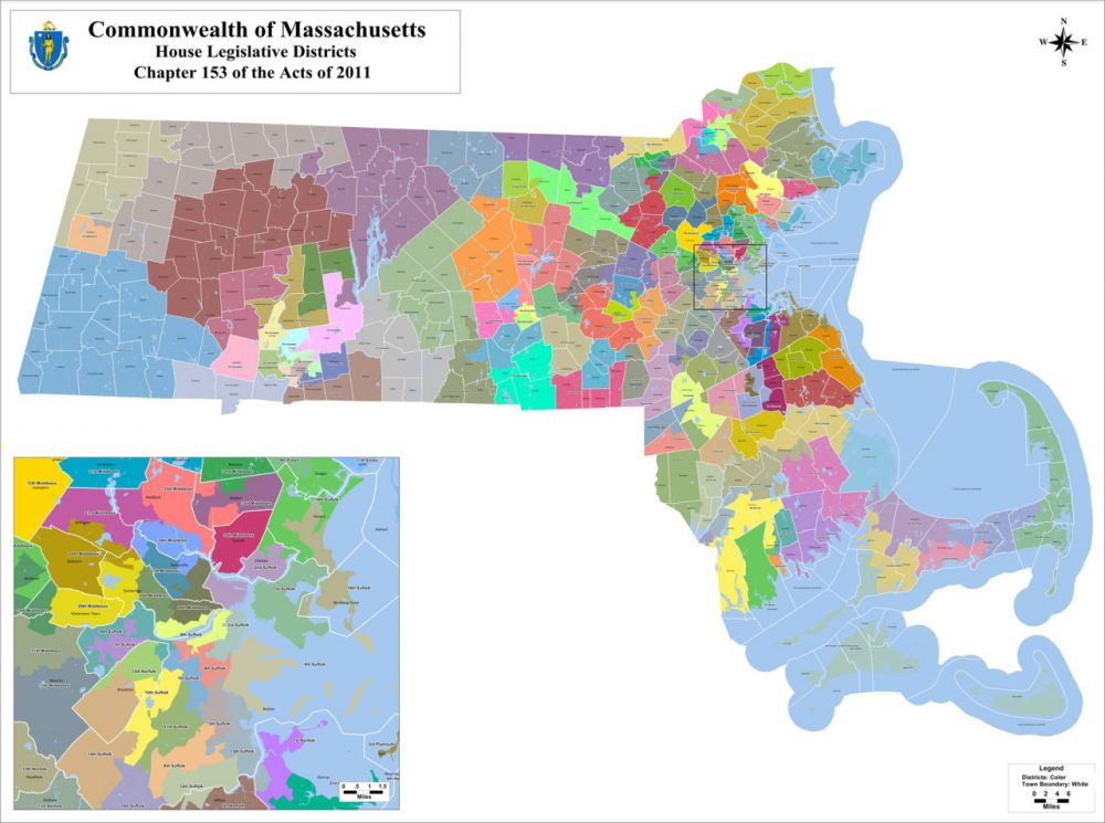 A map of the state House districts. Click for the full-size maps.