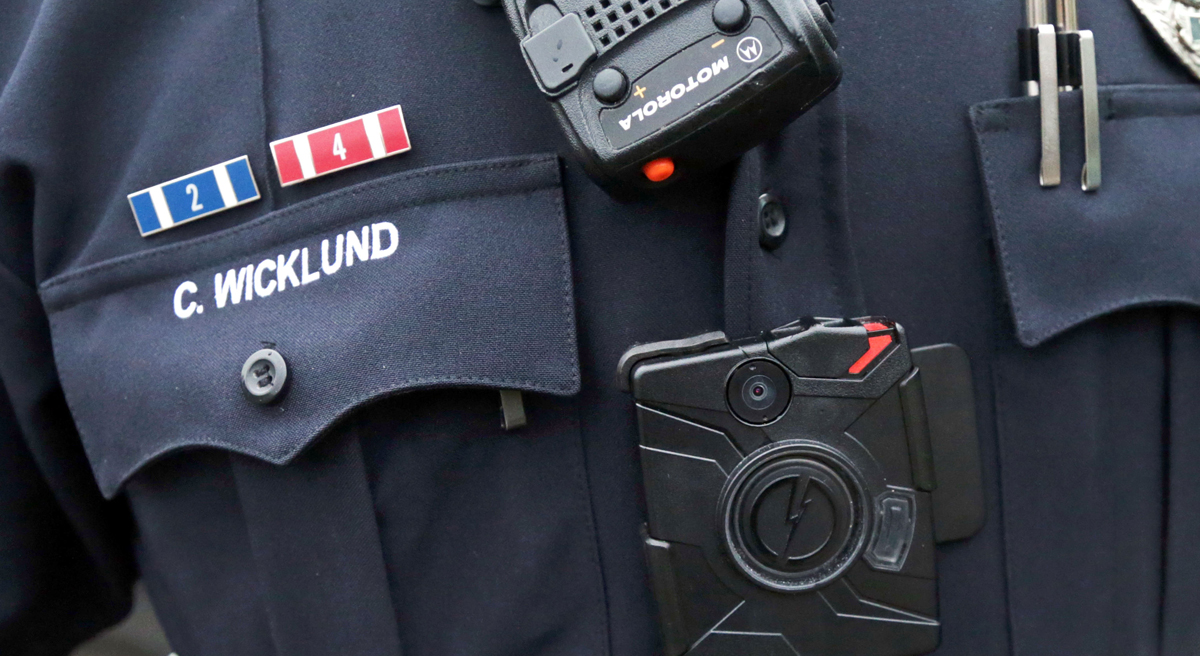 Karen Finkenbinder says mandatory body cameras will not resolve the real issues between law enforcement and the public. (Jim Mone/AP)