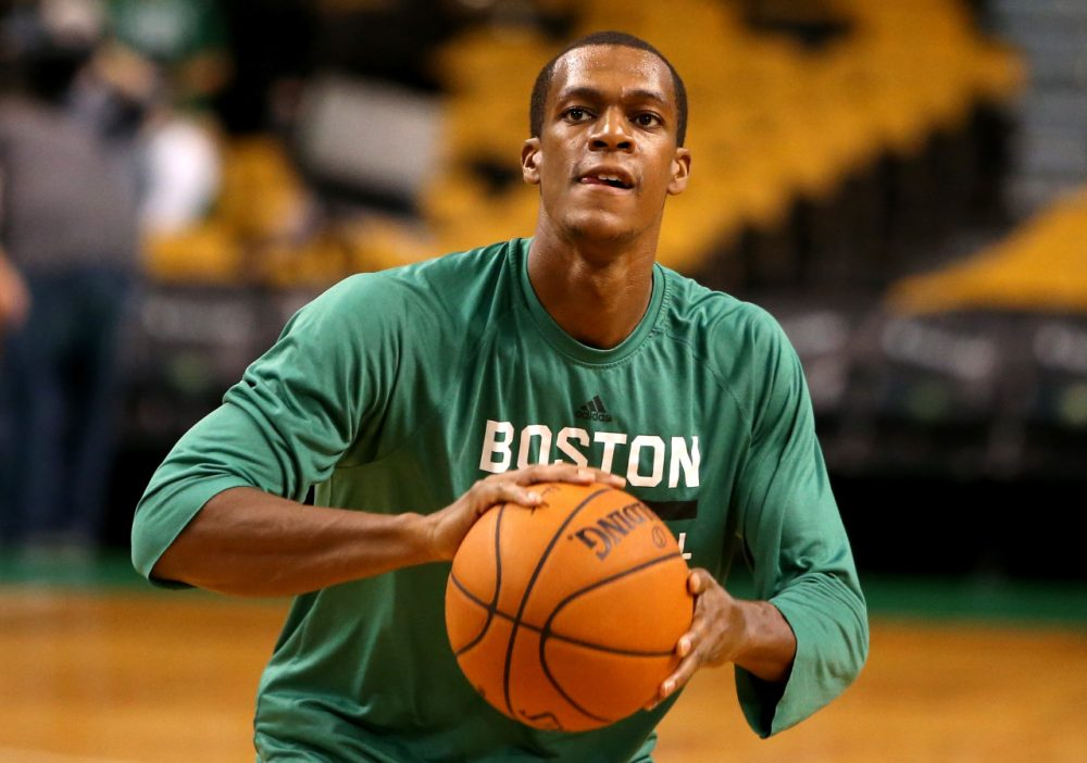 (Mike Lawrie/Getty Images) After spending his whole career with the Celtics, Rajon Rondo will join a talented Mavs team that won the title in 2011. (Mike Lawrie/Getty Images)
