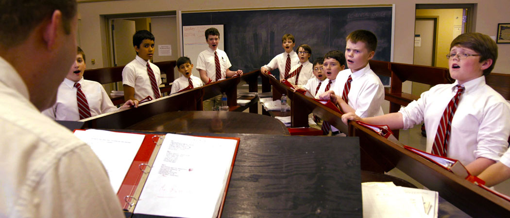 Practice at St. Paul's Choir School (Courtesy of AimHigher Recordings)