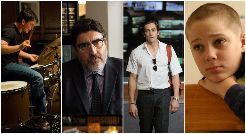 """At the movies, this year was all about taking chances. Pictured: (L-R) Stills from """"Whiplash,""""  """"Nightcrawler,"""" """"Love Is Strange,"""" and """"Boyhood."""" (All photos courtesy/AP)"""