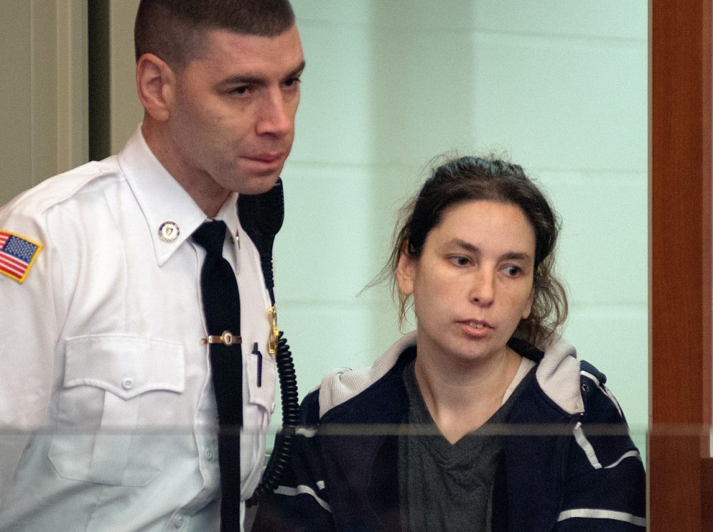 Erika Murray of Blackstone, Mass. was brought in to Worcester Superior Court to be arraigned on 2 counts of murder and other charges. (file/Rick Cinclair, Pool, AP/Worcester Telegram & Gazette)