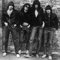 American punk rock group The Ramones. Left to right: Johnny Ramone (1948 - 2004) Tommy Ramone (1949-2014), Joey Ramone (1951 - 2001) and Dee Dee Ramone (1952 - 2002).   (Roberta Bayley/Evening Standard/Hulton Archive/Getty Images)