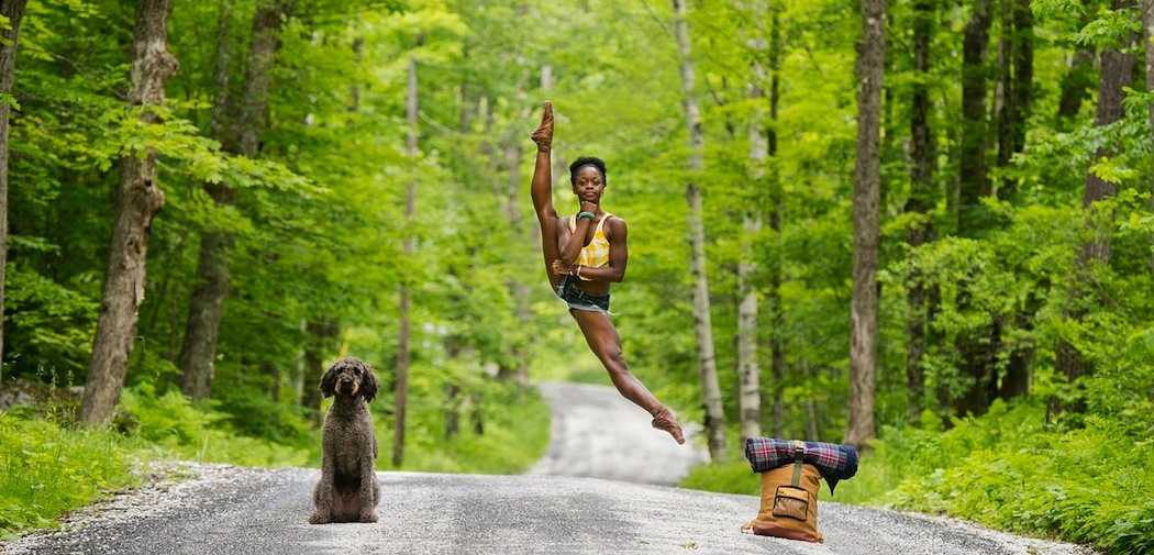 "A detail of Michaela DePrince at Jacob's Pillow, from Jordan Matter's ""Dancers Among Us"" calendar."