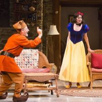 """Martin Moran, Candy Buckley, Marcia DeBonis, and Tyler Lansing Weaks in Christopher Durang's """"Vanya and Sonia and Masha and Spike,"""" directed by Jessica Stone, based on the Broadway direction of Nicholas Martin, playing Jan. 2 – Feb. 1 at the Huntington Theatre Company. ( Jim Cox)"""