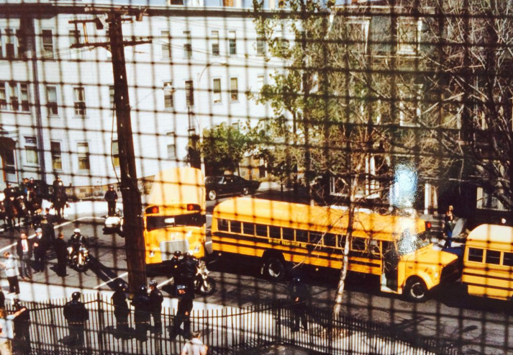 """""""My room was in the front of the building, on the second floor, so I had a view of the buses coming up the hill,"""" says Ione Malloy, who was an English teacher at South Boston High School when the buses rolled that first day of court-ordered desegregation. (Courtesy of Ione Malloy)"""