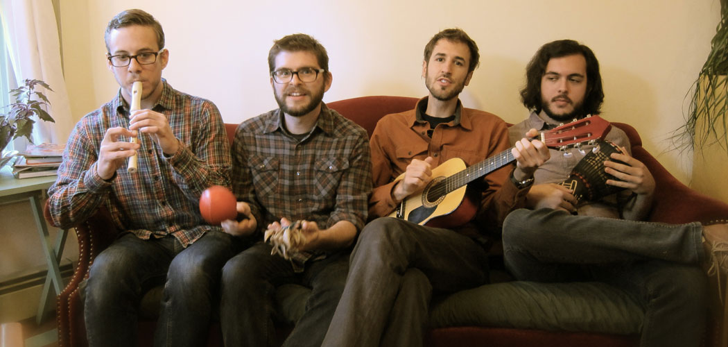 Ian Coss with his band. (Courtesy)