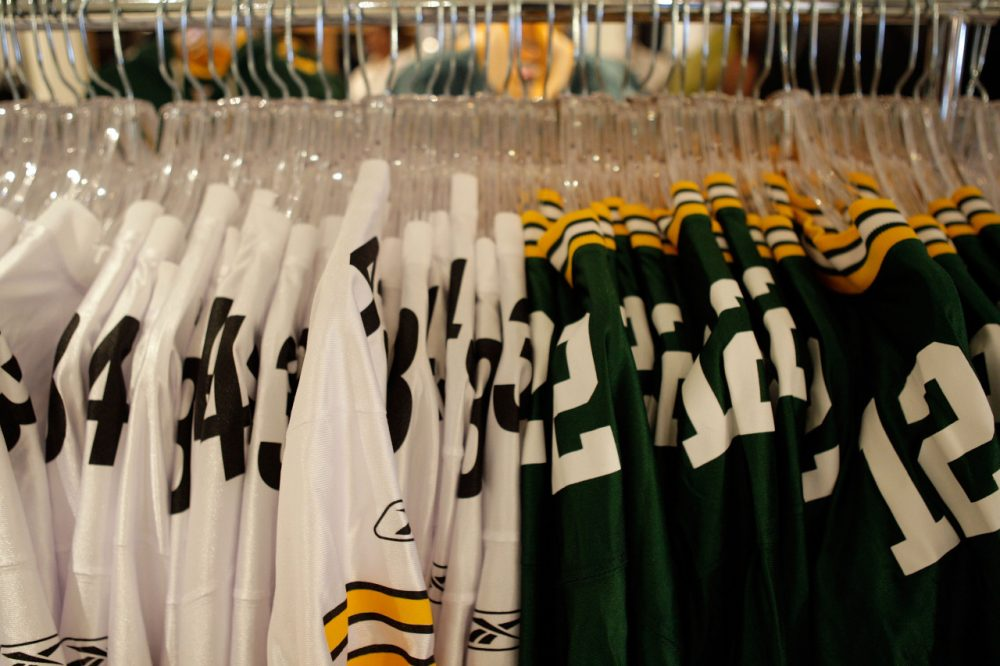 Before a jersey -- or some other piece of sports merchandise -- gets shipped to your home, chances are good it passed through a giant Ohio warehouse. (Jamie Squire/Getty Images)