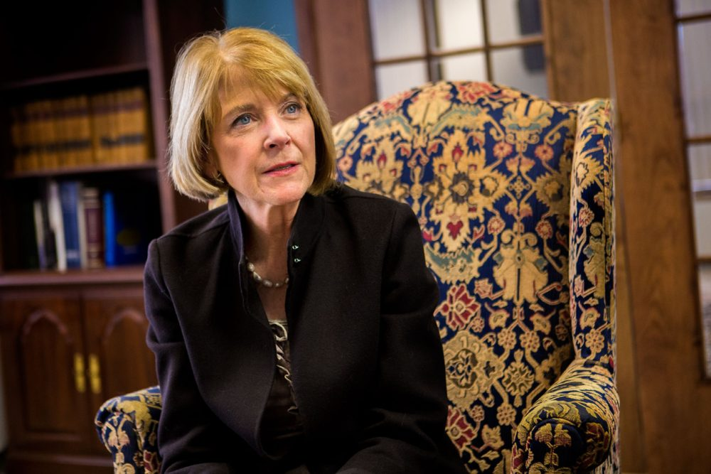 Outgoing Attorney General Martha Coakley, in her office (Jesse Costa/WBUR)