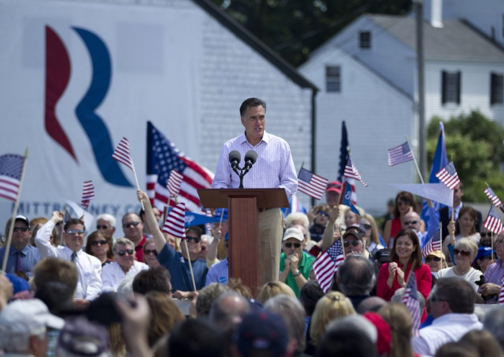 Former Massachusetts Gov. Mitt Romney launched his 2012 presidential run at Scamman Farm in Stratham, N.H. The Republican may try a third presidential bid in 2016.  (Evan Vucci/AP/File)