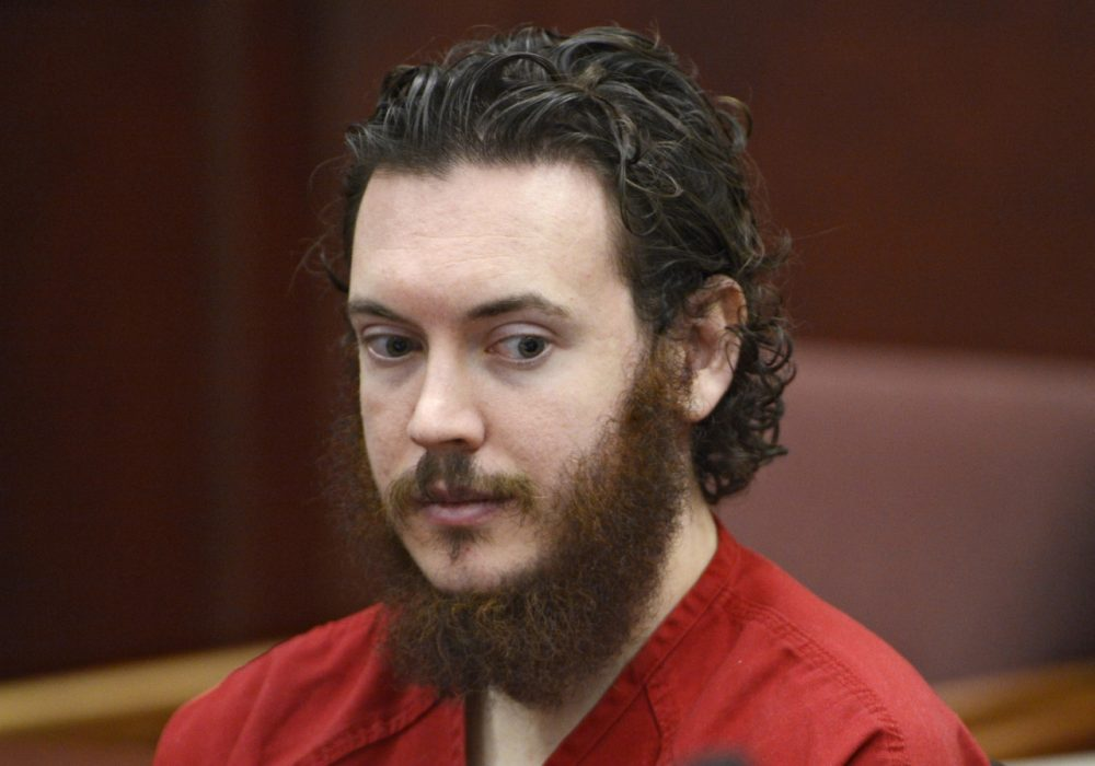 Colorado movie theater shooter James Holmes sits in Arapahoe County District Court in Centennial, Colo., on June 4, 2013. (Andy Cross/The Denver Post via AP)