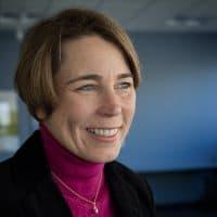 Attorney General Maura Healey, at WBUR (Robin Lubbock/WBUR)