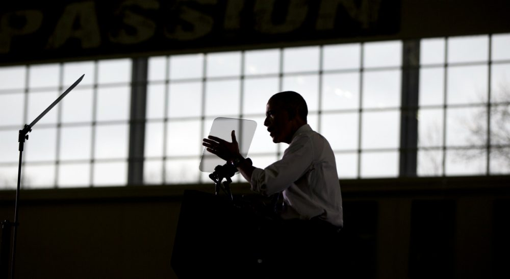 President Barack Obama speaks at Boise State University, Wednesday, Jan. 21, 2015, in Boise, Idaho, about the themes in his State of the Union address. (Carolyn Kaster/AP)