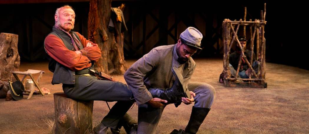 "Ken Marks and Benton Greene in ""Father Comes Home from the War"" at the American Repertory Theater. (Ken Marks and Benton Greene in ""Father Comes Home from the War"" at the American Repertory Theater. (Evgenia Eliseeva/A.R.T.)"