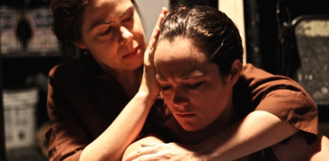 """Christine Power (Maggie) & Caroline Rose Markham (Cora) in """"Chalk."""""""
