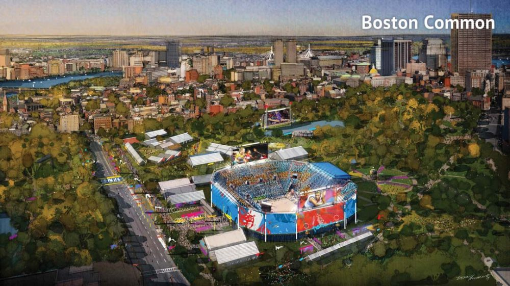 Boston 2024 has proposed hosting beach volleyball on Boston Common. (Boston 2024)