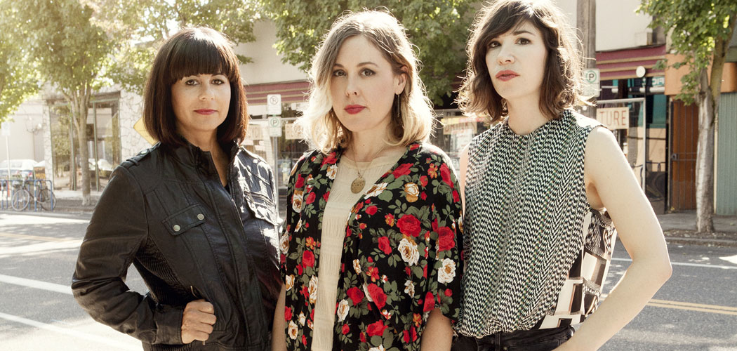 Sleater-Kinney is (from left) Janet Weiss, Corin Tucker and Carrie Brownstein. (Brigette Sire)