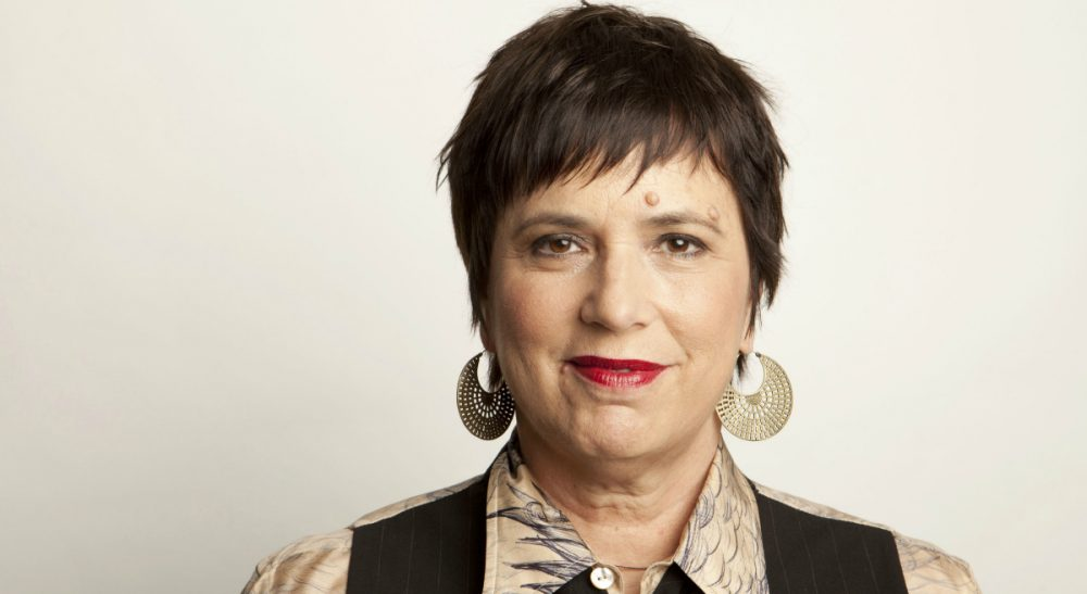 "A look at inclusivity in the arts after a controversial decision by students at Mount Holyoke College to retire Eve Ensler's groundbreaking play, ""The Vagina Monologues."" Ensler is pictured here on Thursday, Nov. 8, 2012 in New York. (Amy Sussman/AP)"