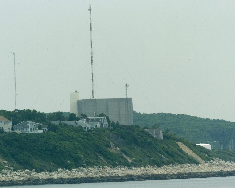 The Pilgrim Station nuclear power plant in Plymouth, Mass. is seen in 2004. (Robert E. Klein/AP)