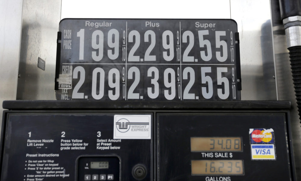 Earlier this year, gas prices on Jan. 7 were listed for a cash price of $1.99 per gallon in Boston. (Steven Senne/AP)