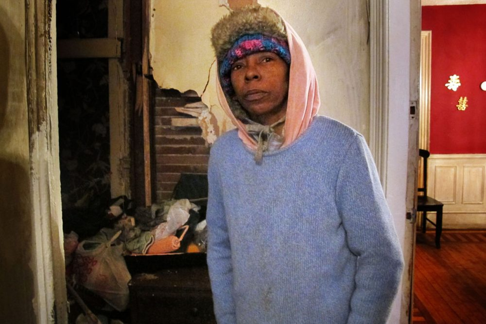 An oil tank in Robbin Taylor's basement is empty and she has no money to fill it. The $900 in oil assistance she received at the beginning of winter is long gone. (Martha Bebinger/WBUR)