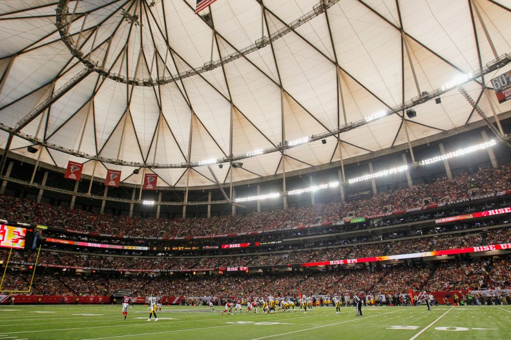 Falcons owner Arthur Blank admitted the team has been filling the Georgia Dome with artificial crowd noise. (Kevin C. Cox/Getty Images)