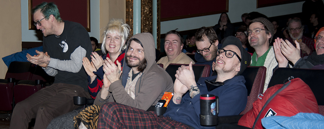 The front row audience at the Boston Sci-fi Festival. (Harry O. Lohr, Jr.)