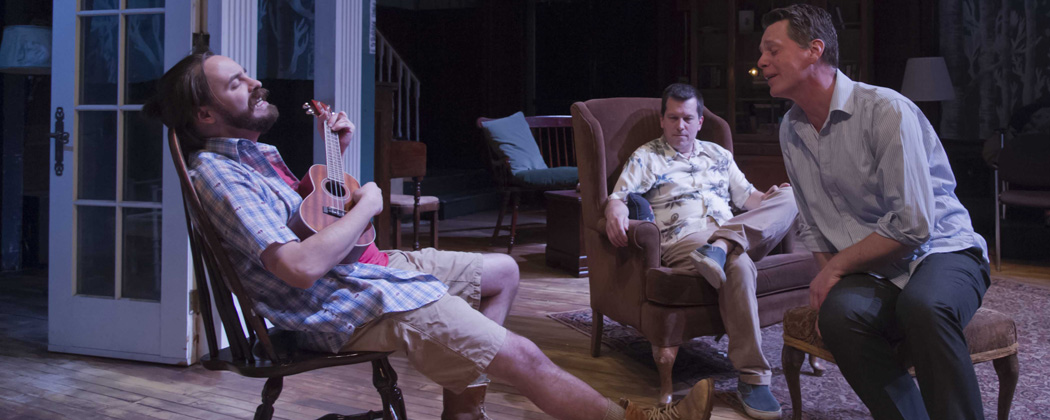"Tim Spears, John Kooi and Michael Kaye in Michael Hammon's ""Uncle Jack."" (Kalman Zabarsky/Boston Playwrights' Theatre)"