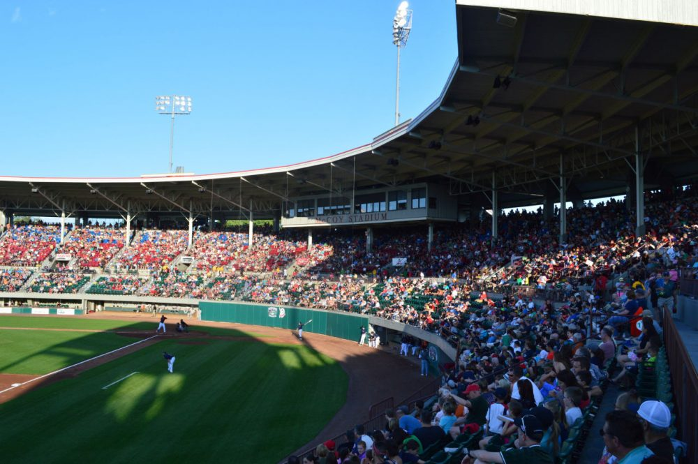 The Red Sox's minor league affiliate plans to leave McCoy Stadium in Pawtucket for a new ballpark in Worcester. (Matt Cloutier/Flickr)