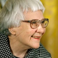 "Pulitzer Prize winner and ""To Kill A Mockingbird"" author Harper Lee smiles before receiving the 2007 Presidential Medal of Freedom. (Chip Somodevilla/Getty Images)"