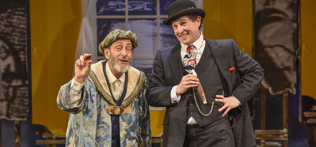 """Will LeBow and Jeremiah Kissel in """"The King of Second Avenue"""" at the New Repertory Theatre. (Andrew Brilliant/Brilliant Pictures)"""