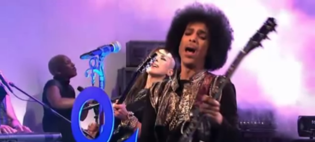 "Prince during ""Saturday Night Live"" performance (Courtesy)"