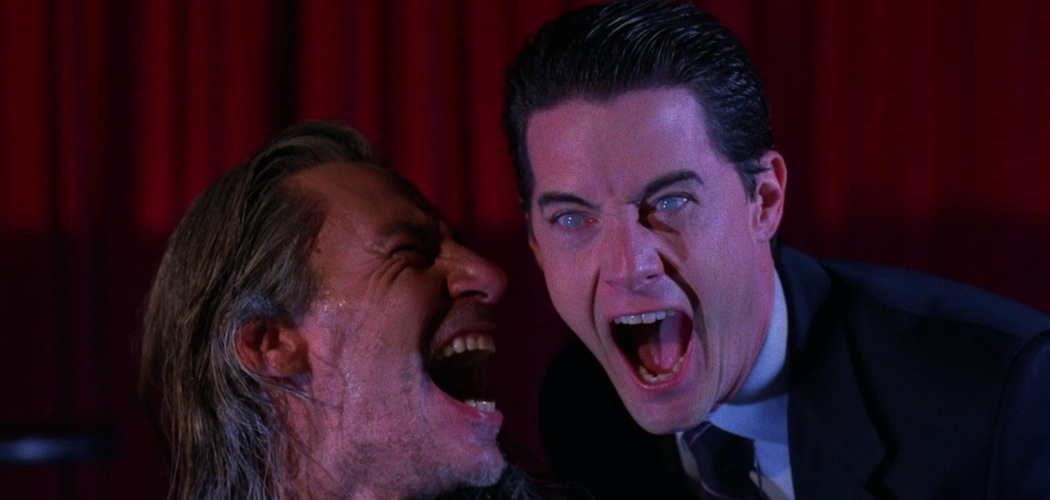 """Frank Silva as Bob and Kyle MacLachlan as Agent Cooper in """"Twin Peaks."""" (Courtesy)"""
