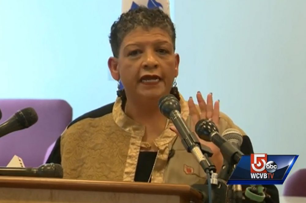 MBTA GM Beverly Scott gave an impassioned news conference this week. She submitted her resignation on Wednesday. (Courtesy of WCVB-TV)
